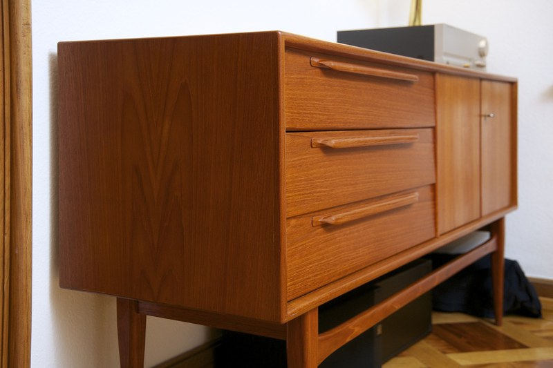 sideboard heinrich riestenpatt teak 1960er bliss modern antiques. Black Bedroom Furniture Sets. Home Design Ideas