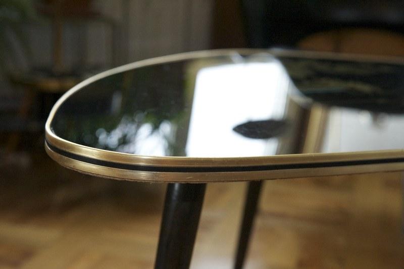 Salontisch niere glas nippon bliss modern antiques for Salontisch glas