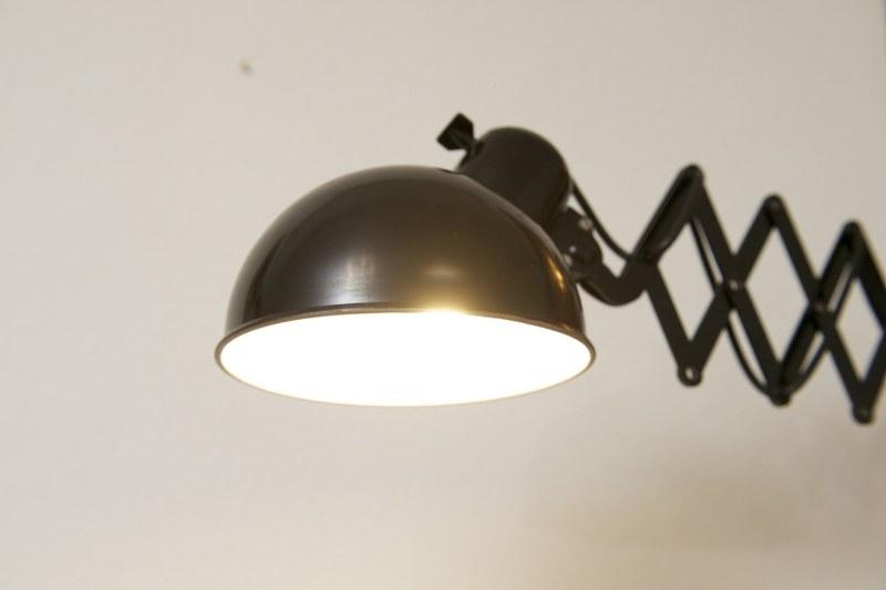 scheren wandlampe art deco schwarz bliss modern antiques. Black Bedroom Furniture Sets. Home Design Ideas