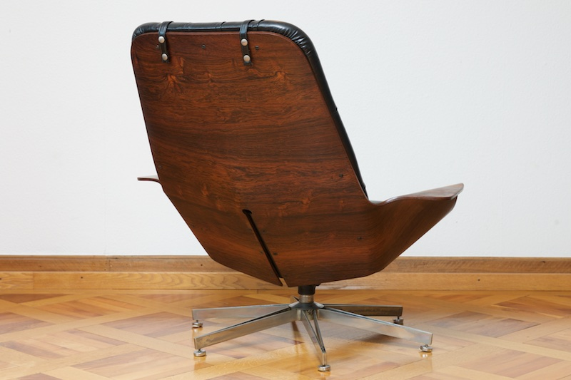 Original mr chair by george mulhauser rosewood edition for Eames chair kopie