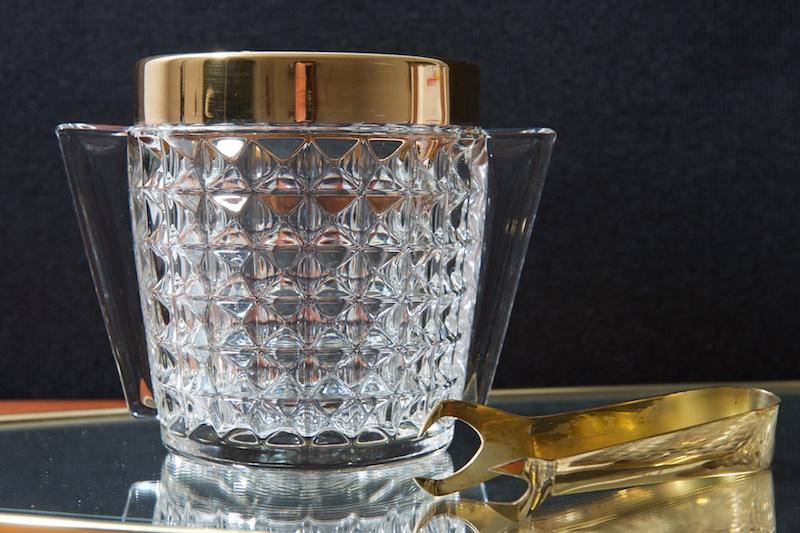 6er set whisky gl ser mit goldrand eisk bel mit zange carlton bliss modern antiques. Black Bedroom Furniture Sets. Home Design Ideas