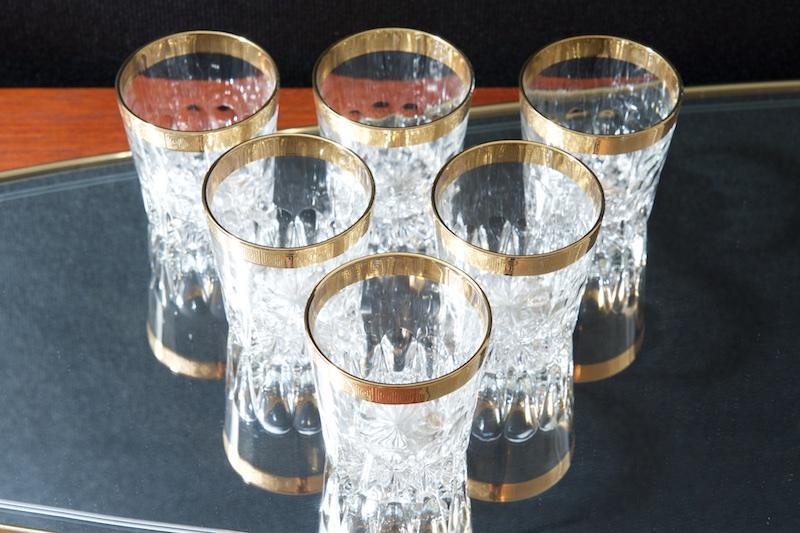 6er set whisky gl ser mit goldrand ritz bliss modern antiques. Black Bedroom Furniture Sets. Home Design Ideas