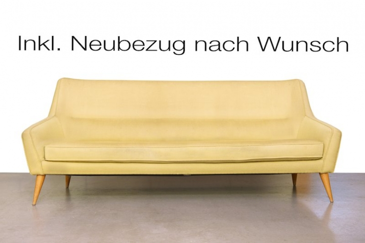 couch sofa pfeiffer deluxe 1961 inkl bezug nach wunsch bliss modern antiques. Black Bedroom Furniture Sets. Home Design Ideas