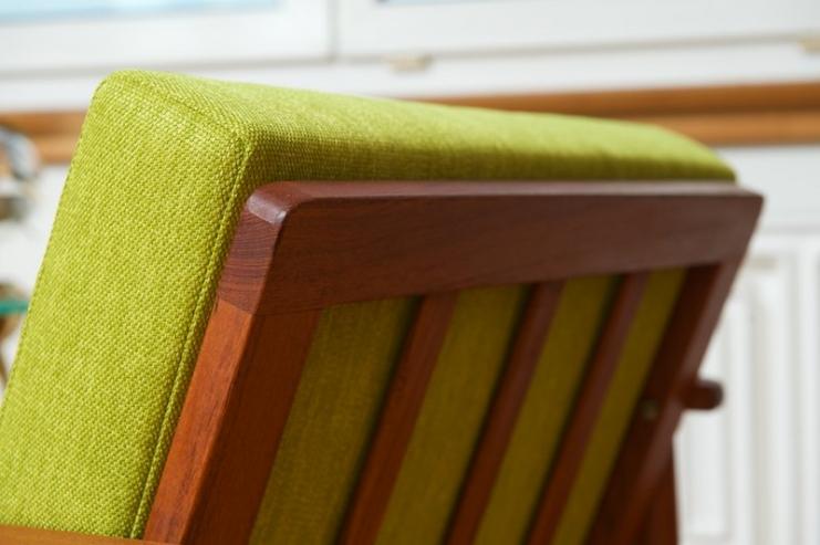 easy chair mann teak 1961 topcare fleckschutz garantie bliss modern antiques. Black Bedroom Furniture Sets. Home Design Ideas