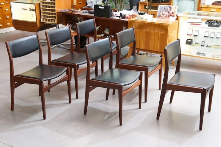6er set st hle frem r jle teak leder bliss modern antiques. Black Bedroom Furniture Sets. Home Design Ideas