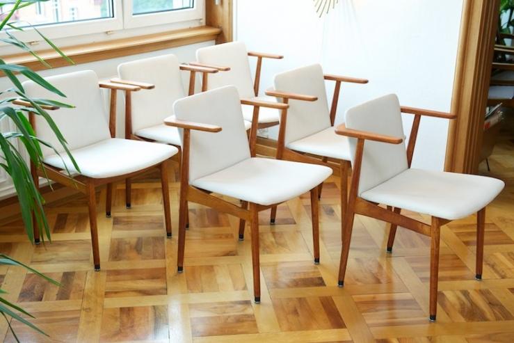 6er set polsterst hle svenska 1963 weiss teak topcare fleckschutz garantie bliss modern. Black Bedroom Furniture Sets. Home Design Ideas