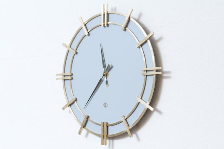 Grosse Wanduhr TELENORMA TN GERMANY 1952 Funk Uhrwerk