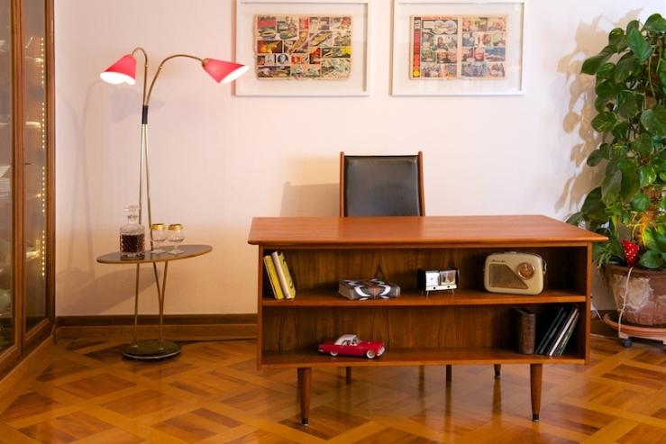der grosse kleine schreibtisch teak denmark bliss modern antiques. Black Bedroom Furniture Sets. Home Design Ideas