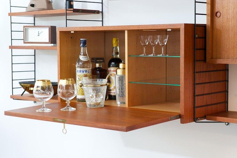 string regal string regal pocket esche wei aufbewahrung. Black Bedroom Furniture Sets. Home Design Ideas