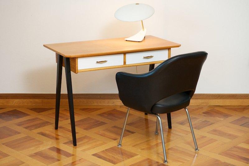 kleiner schreibtisch buche 1958 bliss modern antiques. Black Bedroom Furniture Sets. Home Design Ideas
