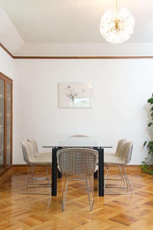 6er set harry bertoia wire chairs 420 1952 topcare fleckschutz garantie bliss modern antiques. Black Bedroom Furniture Sets. Home Design Ideas