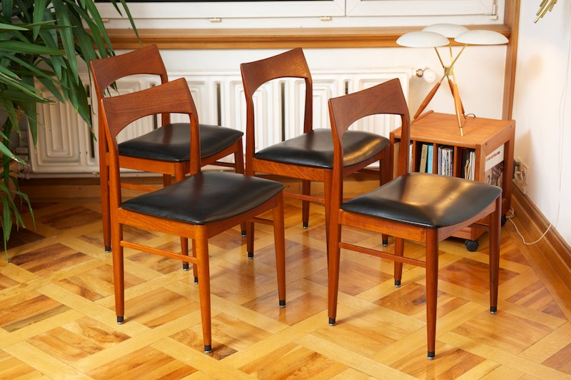 4er set teak st hle vs denmark echtleder bliss modern. Black Bedroom Furniture Sets. Home Design Ideas