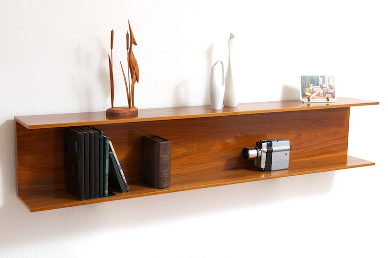 wandregal konsole wilhelm renz 1962 nussbaum bliss modern antiques. Black Bedroom Furniture Sets. Home Design Ideas