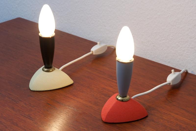 tischlampen nachtischlampen duo color box 1957 bliss modern antiques. Black Bedroom Furniture Sets. Home Design Ideas
