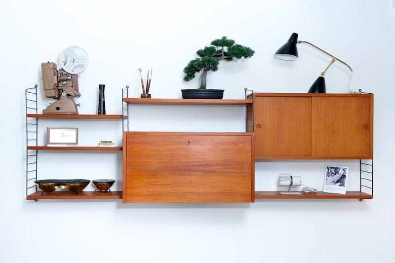 string regal system korpus mit verspiegelter bar sekret r bliss modern antiques. Black Bedroom Furniture Sets. Home Design Ideas