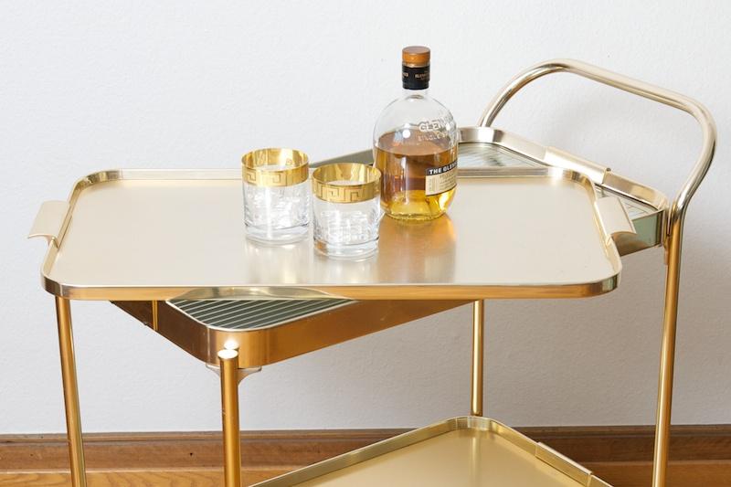beheizter servierwagen barwagen kaymet gold 1959 bliss modern antiques. Black Bedroom Furniture Sets. Home Design Ideas