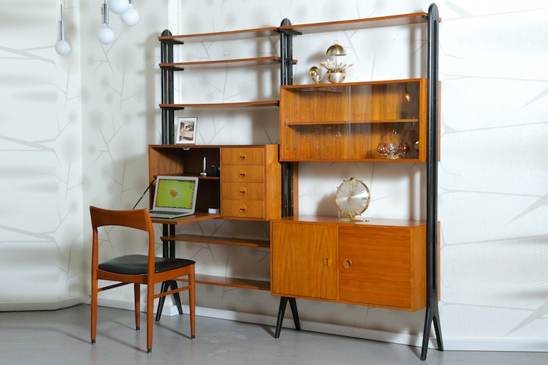 string regalsystem korpus mit 2 schiebet ren schmal bliss modern antiques. Black Bedroom Furniture Sets. Home Design Ideas