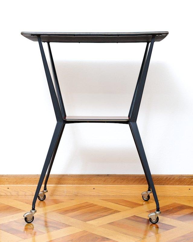 hoher beistelltisch bar tisch mahogany italy 1956 bliss. Black Bedroom Furniture Sets. Home Design Ideas