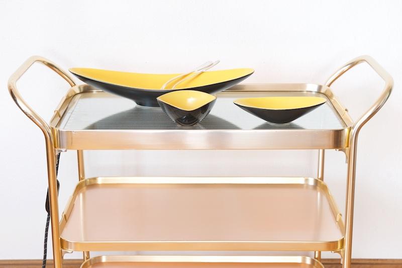beheizter servierwagen barwagen kaymet grand gold 1959 bliss modern antiques. Black Bedroom Furniture Sets. Home Design Ideas