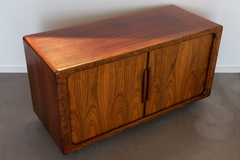 lp sideboard auf rollen dyrlund deluxe palisander 1962 bliss modern antiques. Black Bedroom Furniture Sets. Home Design Ideas