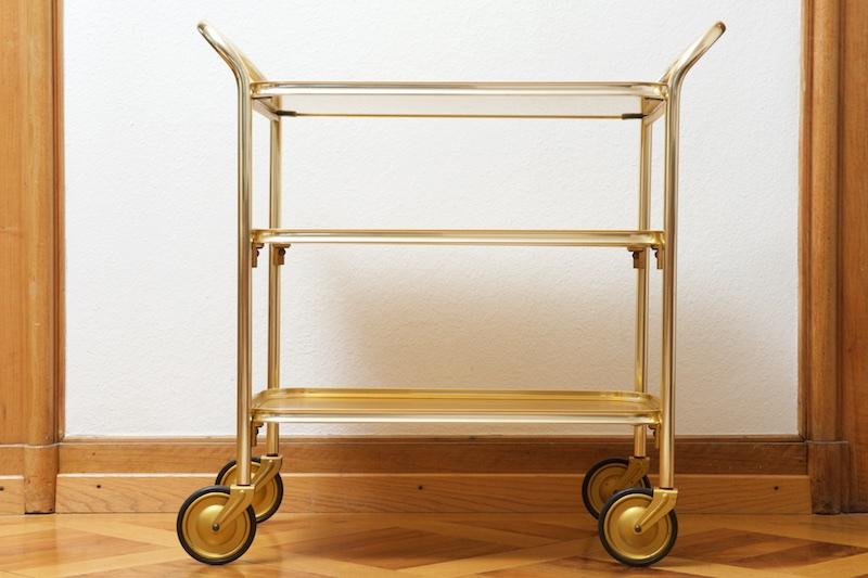 servierwagen barwagen carefree gold 1958 bliss modern antiques. Black Bedroom Furniture Sets. Home Design Ideas