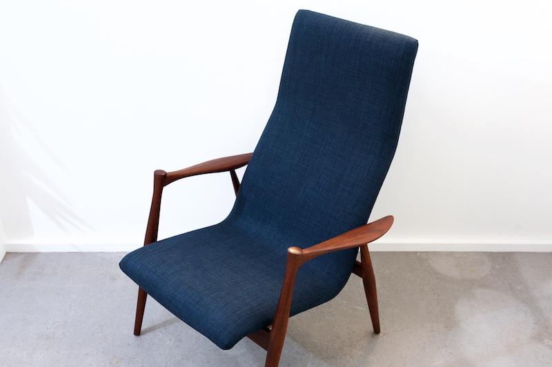 hochlehner sessel rosewood prime navy 1960er bliss modern antiques. Black Bedroom Furniture Sets. Home Design Ideas