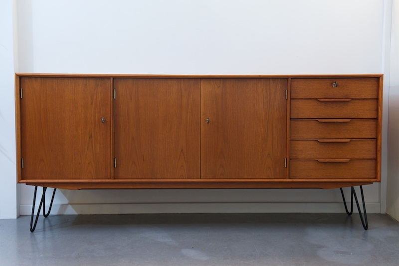 grosses teak sideboard gunni omann aco m bler 1960er bliss modern antiques. Black Bedroom Furniture Sets. Home Design Ideas