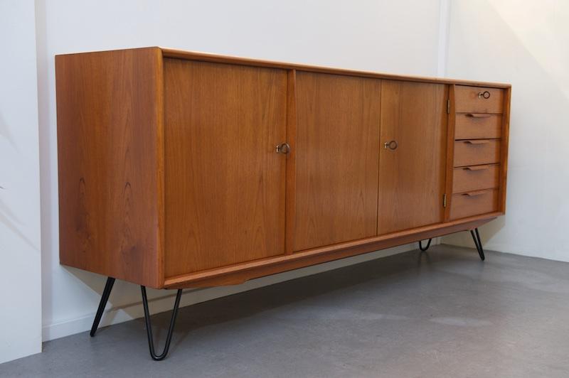 grosses teak sideboard gunni omann aco m bler 1960er bliss modern antiques. Black Bedroom Furniture Sets. Home Design Ideas
