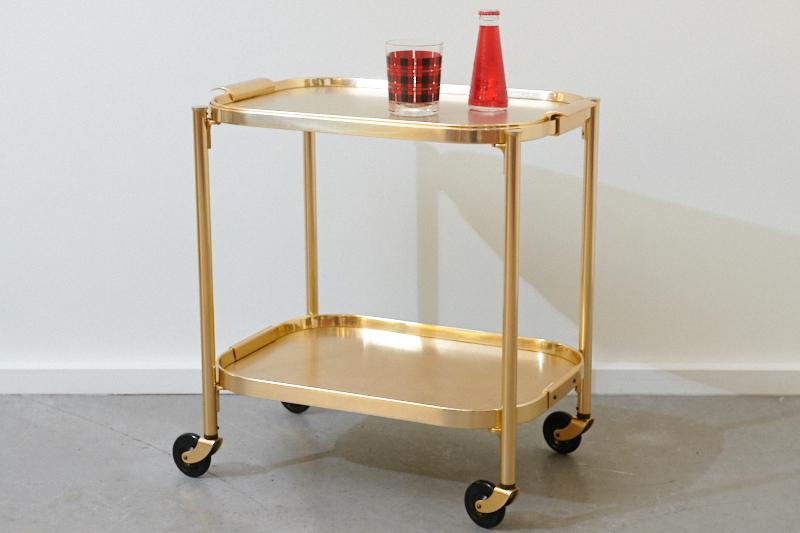 servierwagen barwagen kaymet gold mini 1959 bliss modern antiques. Black Bedroom Furniture Sets. Home Design Ideas