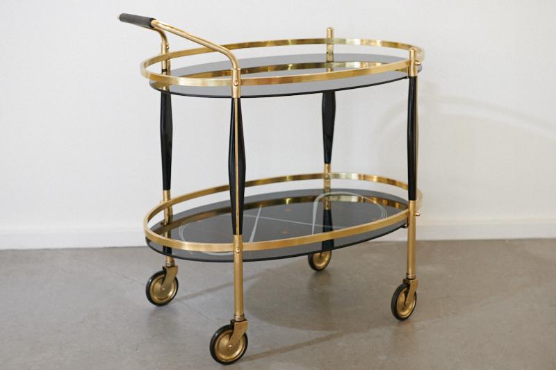 Servierwagen Modern teewagen barwagen elypta noir deluxe 1950er bliss modern antiques