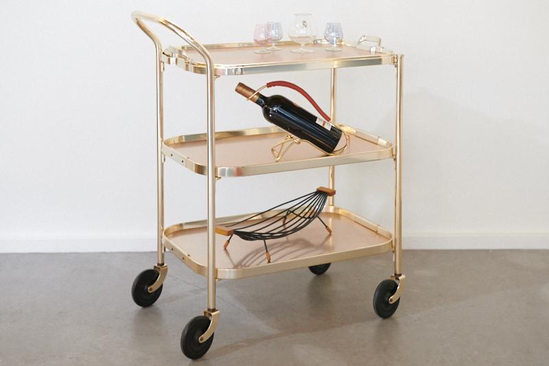 Servierwagen Modern servierwagen barwagen kaymet gold spezial 1958 bliss modern antiques