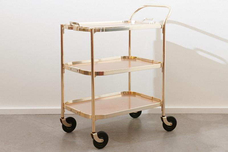 servierwagen barwagen kaymet gold spezial 1958 bliss modern antiques. Black Bedroom Furniture Sets. Home Design Ideas