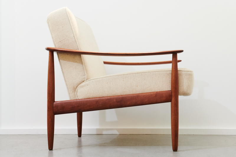 Easy Chair Knoll Antimott Creme 1960er Inkl 3 Jahre Top Care