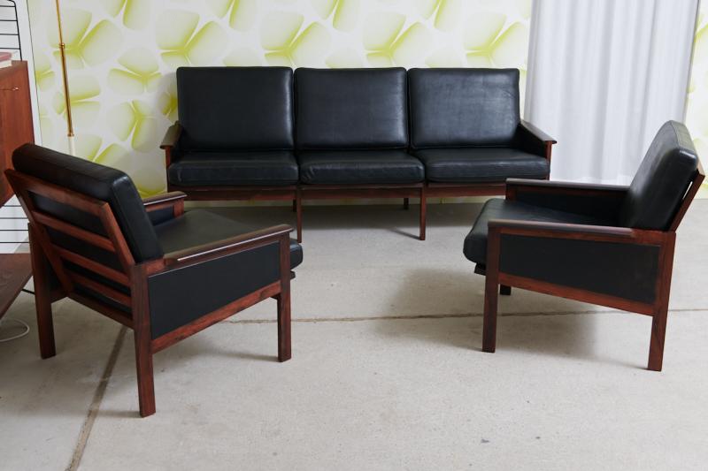 Polstergruppe Capella 3er Sofa 2x Sessel Illum Wikkelso Rio
